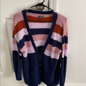Wild Fable Pink/Blue/Orange Cardigan Size L